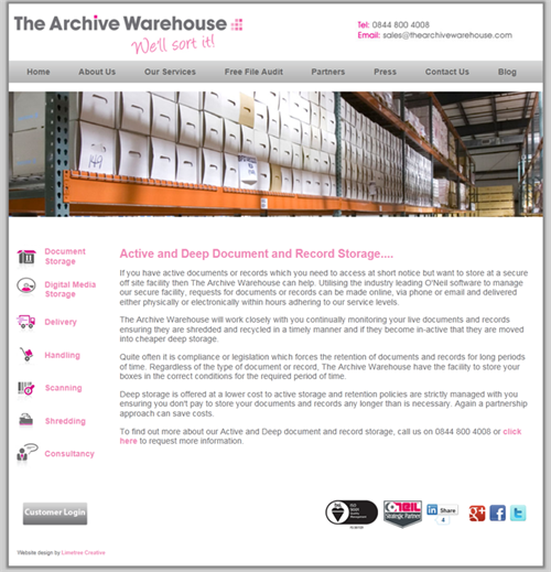 The Archive Warehouse Service